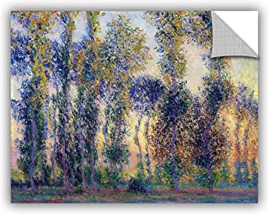 """ArtWall Claude Monet's Poplars at Giverny Sunrise Art Appeelz Removable Graphic Wall Art, 24 by 32"""""""