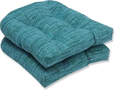 Pillow Perfect 室外/室内 Remi 柳条坐垫(2 件套) 蓝色 596457