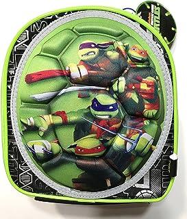 Teenage Mutant Ninja Turtles 隔热拉链午餐手提袋,带手柄,3D 乌龟壳,米开朗基洛,莱昂拉多,拉斐罗,9 英寸长 x 8 英寸宽 x 5 英寸深