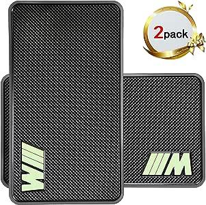汽车凝胶车垫 marrrch 超大粘性汽车 PAD dashboard 高级防滑凝胶车垫2pack 27.9x 15.2cm 登山 PAD 适用于手机智能手机或 GPS devices 黑色