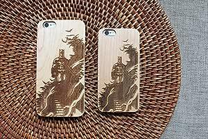蝙蝠侠剪影手工制作 iPhone 木质手机壳环保木质 DC 漫画设计 - 男女的礼品(竹子、iPhone 6 (s)) Iphone 6 (s) 枫木色