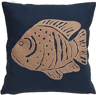 *蓝海岸鱼抱枕(含枕芯)45.72 cm x 45.72 cm