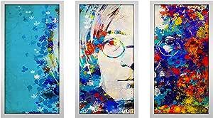 "Picture Perfect International 704-1940-1224 Bekim Mehovic ""Imagine VI"" Framed Plexiglass Wall Art, Set of 3, 13.5"" W x 25.5"" H x 1"" D"