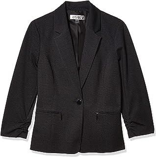 Kasper 女士单扣缺口领斜纹布外套