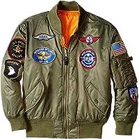 Alpha Industries大男孩MA-1轰炸机系列夹克 带补丁