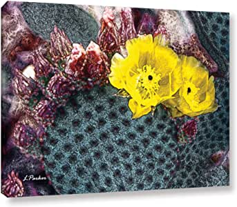 """ArtWall Linda Parker's Yellow Desert Blooms Gallery Wrapped Canvas, 18"""" x 24"""""""