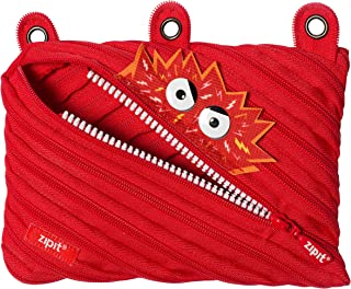 ZIPIT Talking Monstar 3-Ring Pencil Case, Red