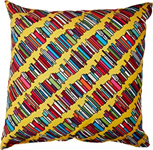 DENY Designs Sharon Turner Skew Whiff Book Stack Throw Pillow, 16 x 16