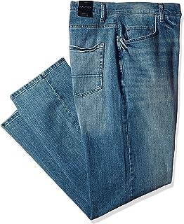 Nautica 男士高大 5 口袋寬松彈力牛仔褲