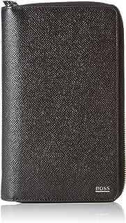 BOSS 男士 Signature_d Zip Trav 钱包,黑色,4x21x13 cm