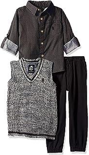 English Laundry 男童长袖运动衬衫、马甲和裤子套装