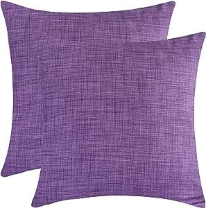 白色花瓣 Chashmeshahi 平纹枕套 2 件装 紫色 16x16 inch CHPC2AMEPUR16x16Plain MPN