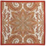Maison d' Hermine Kashmir Paisley * 纯棉 4 件套餐巾,50.8 厘米 x 50.8 厘米。