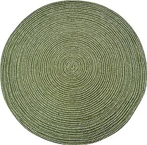 "USTIDE 圆形室内室外地毯编织地毯 * 2'6""x2'6"" Round"