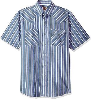 Ely & Walker 男式短袖条纹西式衬衫