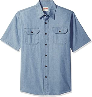 Wrangler Authentics Authentics 男式短袖經典針織襯衫