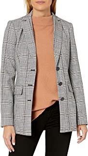 Karl Lagerfeld Paris 女士缺口领格子夹克