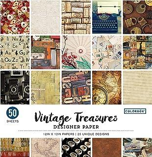 """ColorBok 68117E 设计师纸垫复古宝藏,30.48 厘米 x 30.48 厘米 Vintage Treasures 12"""" x 12"""" 68117E"""