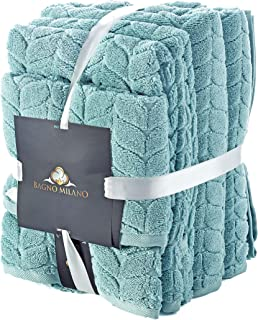 Bagno Milano Luxe 系列土耳其毛巾,* 土耳其棉,速干豪华毛绒毛巾,土耳其制造 浅* 6 pcs Towel Set