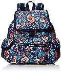 Lesportsac 女式 Classic系列防泼水时尚旅行双肩包 7357E187 蓝色/黄色/绿色/红色 35 * 29 * 14cm