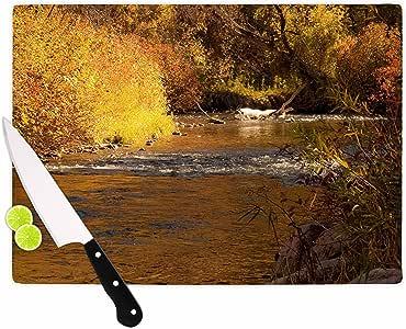"KESS InHouse Sylvia Coomes""Autumn Stream Brown Yellow"" 砧板,多色 多种颜色 11.5 by 8.25"" SC4006ACB01"