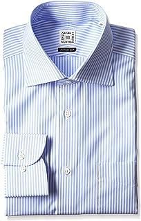 (アザブ The 定制衬衫) Azabu Custom 恤宽条纹修身长袖衬衫