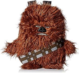 Star Wars星球大战迪士尼Chewbacca楚巴卡3D造型长毛绒男童背包,16英寸(约40厘米) 棕色 均码