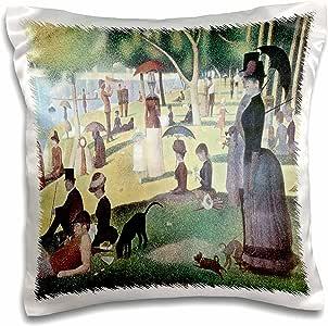 BLN 印象派艺术收藏品–A SUNDAY 午后 ON THE ISLAND OF LA Grande jatte 来自 georges-pierre seurat–枕套