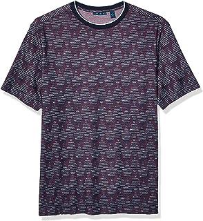 Perry Ellis 男士高大加长版印花短袖 T 恤