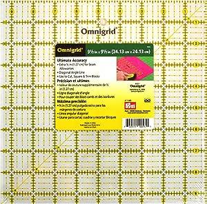 Dritz Omnigrid Quilter's Square: 9-1/2x9-1/2