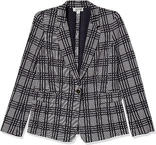 Tahari ASL 女式单扣翻盖口袋缺口领夹克