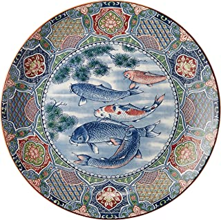 万古烧 大碟子 五月鲤10号碟子 [320×35毫米] 陶器 日式餐具 旅馆 日式餐馆 餐厅 业务用