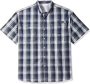 Columbia 男式 Super Bonehead 经典高大款长袖衬衫 1X 蓝色 1276382