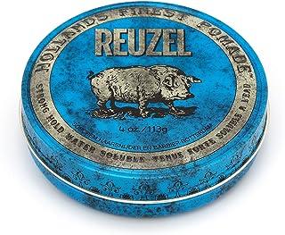 REUZEL 蓝色润发油,强力定型,水溶性,4盎司/113克