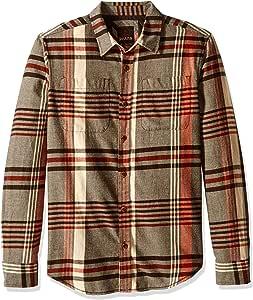 PRANA 男式 Delaney 衬衫 小号 棕色 M2DELA316-200