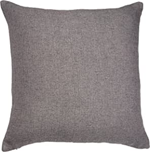 Deconovo 柔软抱枕套手工制作枕套靠垫套带隐形拉链客厅 45.72 x 45.72 cm 黑色 Frost Gray-4 18x18 Inch CS24463-4M