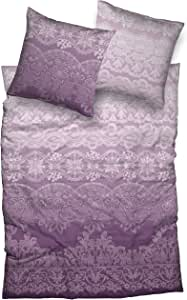 Kneer Demir 海狸床上用品套装带拉链 + 枕套 80 / 厘米 颜色床上用品,棉 莓果色 200 x 135 x 1 cm B313500