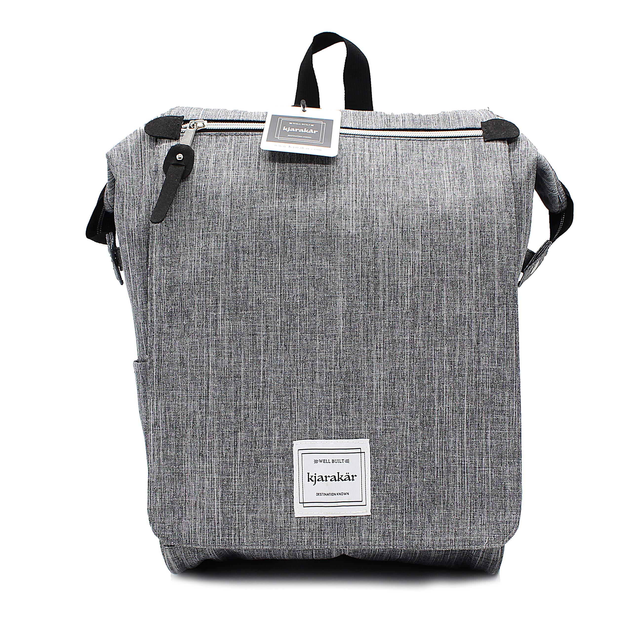 KJARAKÄR 背包 – 通勤、旅行、女士、儿童或学校! (碳)