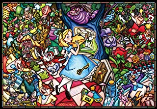 Tenyo (DP-027) Disney Stained Glass Alice in Wonderland Jigsaw Puzzle (1000 Piece)