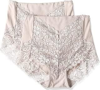 (厚木)ATSUGI 内裤 3D COVER (3D COVER) 收腹 高腰 背面蕾丝 〈2条装〉