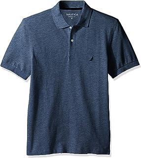 Nautica 男式短袖純色棉質珠地布 POLO 衫