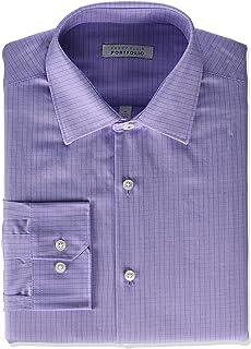 Perry Ellis 男式现代修身宽角领衬衫