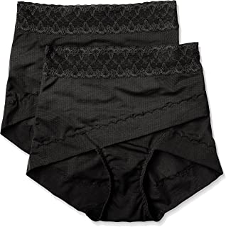 ATSUGI 厚木 矫正型内裤 骨盆矫正 骨盆交叉带束腹内裤 提臀(2条装) 黑 日本 LL-(日本サイズ2L相当)