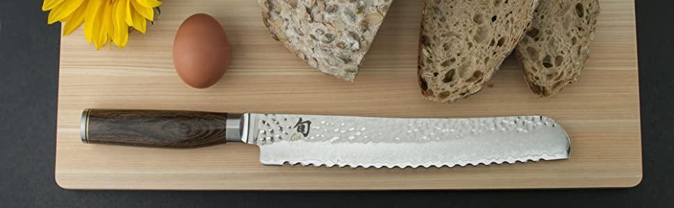 shun classic chef knife, santoku, shun premier knife line, made in japan kitchen knife