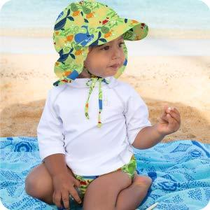 baby toddler infant diaper hat flap neck coverage