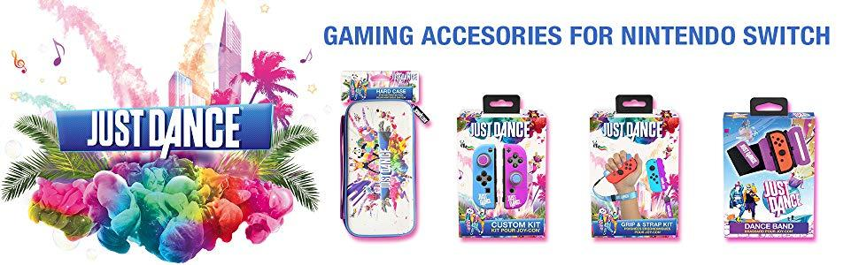 nintendo;switch;lite;just;dance;19;20;2019;2020;accessories;hard;case;protective;grip;wrist;band