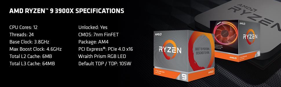 Ryzen 3900X Specs