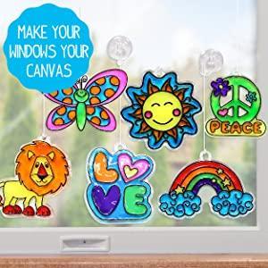 window, art, window art, color, sunshine, creativity, activity, kit, craft, paint
