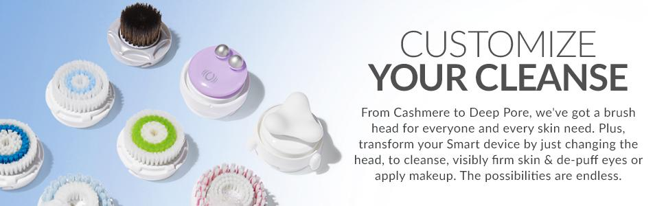clarisonic sonic facial cleansing brush head exfoliate acne oily skin deep pore radiant skin
