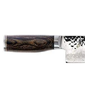 shun premier handle, wood handle knife, tsuchme finish knife, premier chef knife